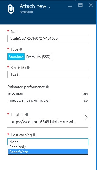 How to add disk drives & scale out NAS storage in Microsoft azure VM? 6