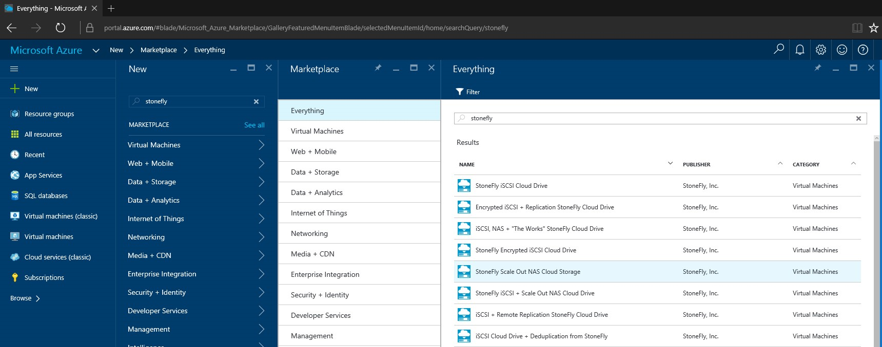 How to setup StoneFly Scale out NAS VMs in Microsoft Azure portal? 2