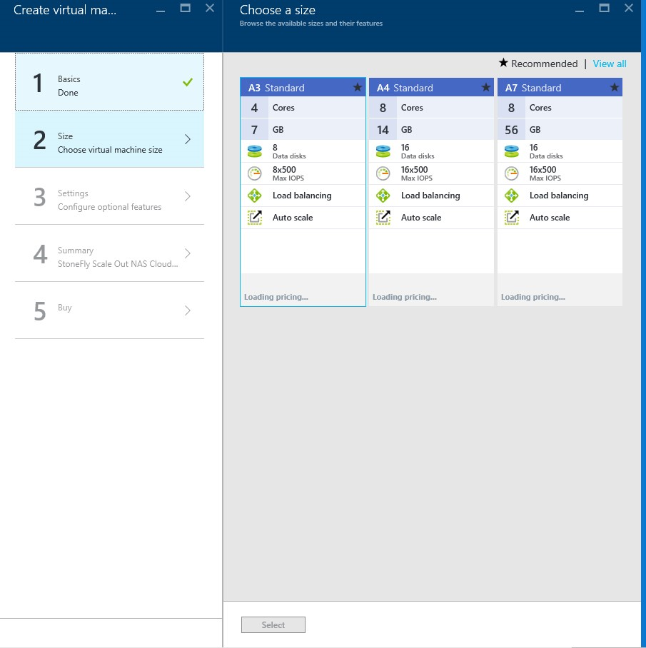 How to setup StoneFly Scale out NAS VMs in Microsoft Azure portal? 5