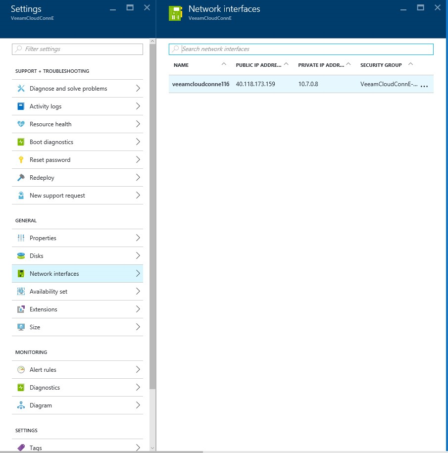 How to configure Veeam cloud connect for the Enterprise VM in Azure Portal? 2