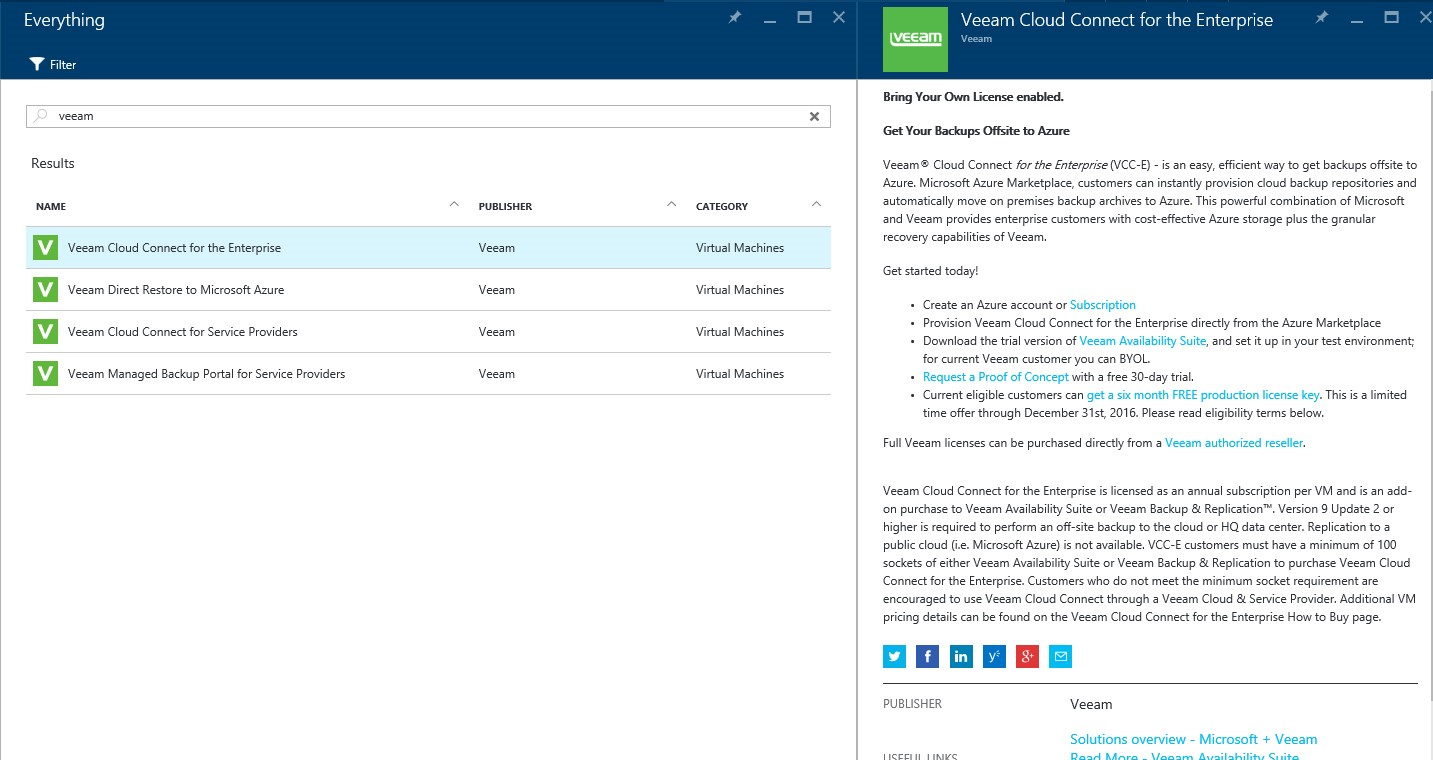 How to setup Veeam Cloud Connect for the Enterprise Virtual Machine in Microsoft Azure Portal 2