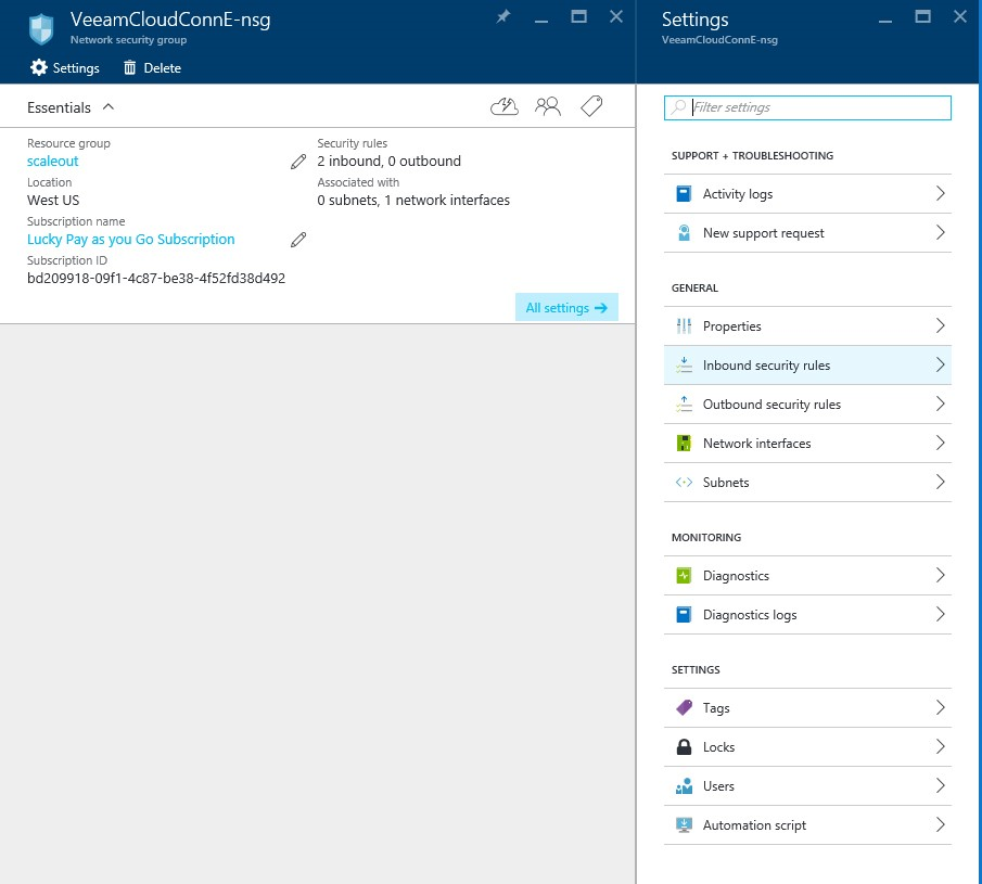 How to configure Veeam cloud connect for the Enterprise VM in Azure Portal? 4