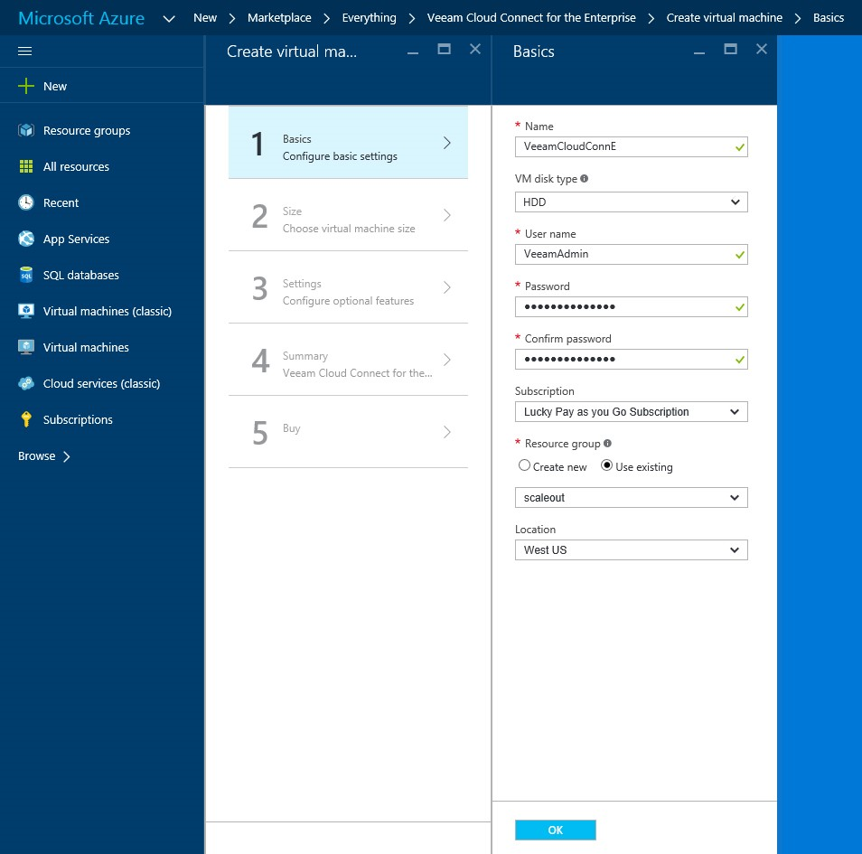 How to setup Veeam Cloud Connect for the Enterprise Virtual Machine in Microsoft Azure Portal 4
