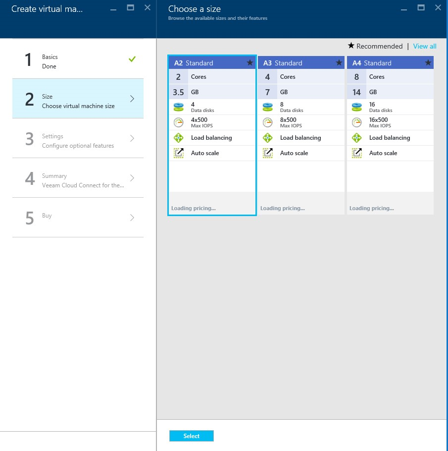 How to setup Veeam Cloud Connect for the Enterprise Virtual Machine in Microsoft Azure Portal 5