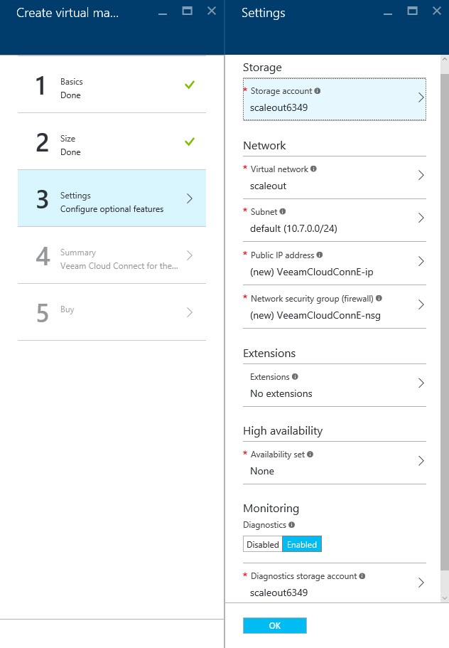How to setup Veeam Cloud Connect for the Enterprise Virtual Machine in Microsoft Azure Portal 6