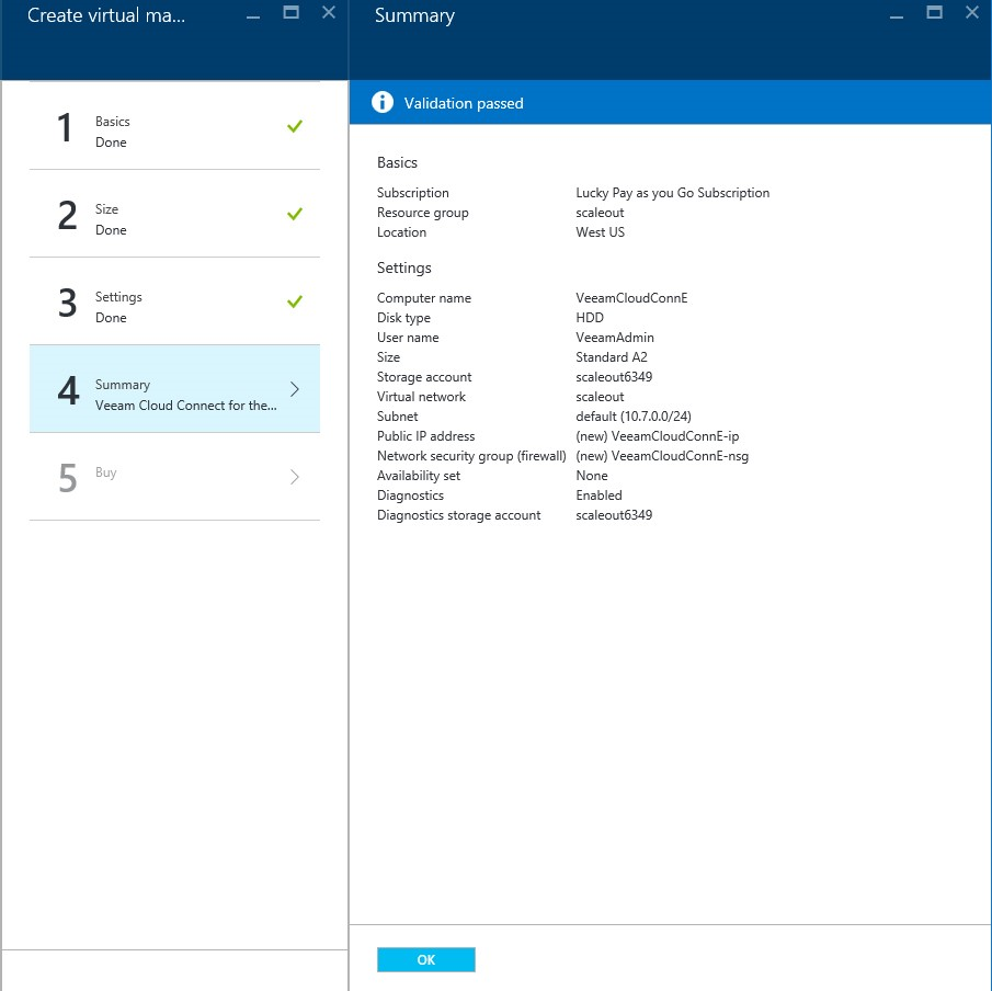 How to setup Veeam Cloud Connect for the Enterprise Virtual Machine in Microsoft Azure Portal 7