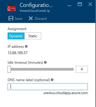 How to configure Veeam cloud connect for the Enterprise VM in Azure Portal? 10