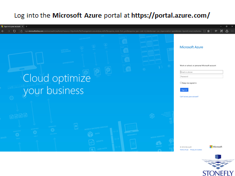 Azure cloud storage.