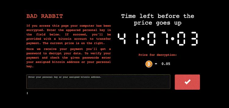 Bad Rabbit: A New Ransomware Attack Hits USA and Europe