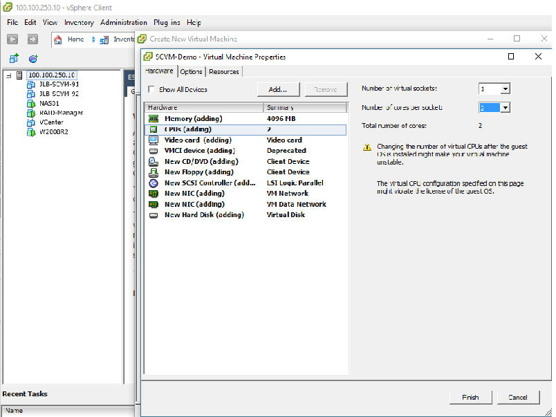 How to deploy software defined Virtual Machine (SCVM) on VMWare ESXi? 10