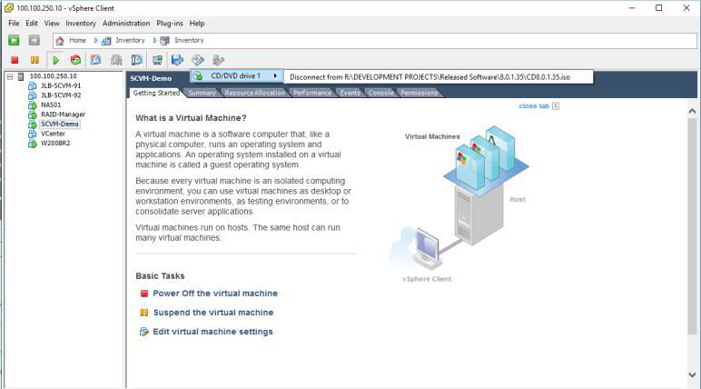 How to deploy software defined Virtual Machine (SCVM) on VMWare ESXi?