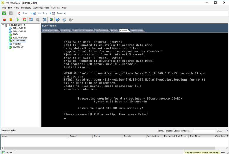 How to deploy software defined Virtual Machine (SCVM) on VMWare ESXi? 22