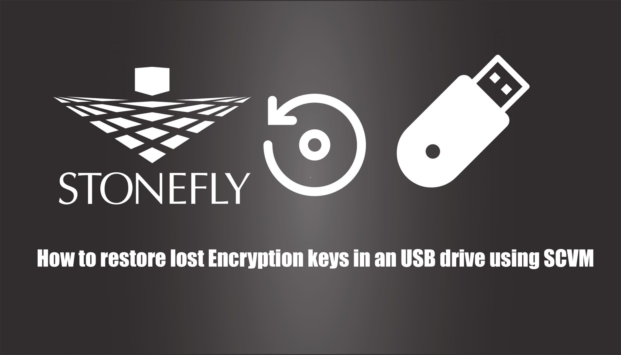 How can you restore encryption USB device in SAN