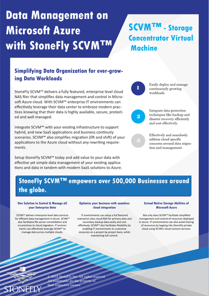 SCVM™ Software Defined Storage Solution - Virtual Storage Appliance 36