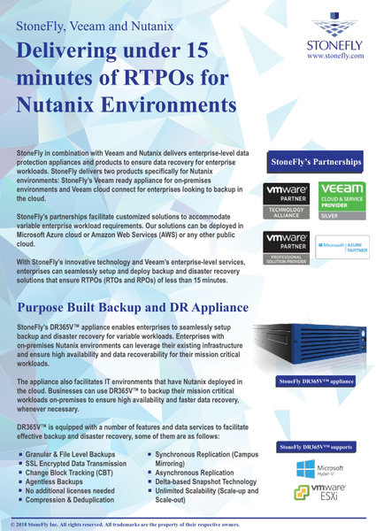 Full-featured Veeam Ready Backup Solution for Nutanix 33