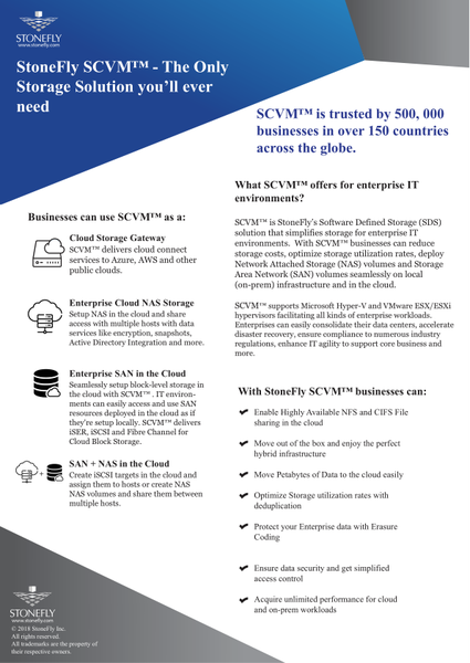 SCVM™ Software Defined Storage Solution - Virtual Storage Appliance 37