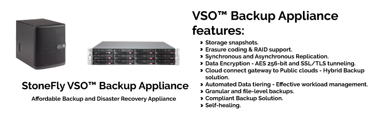 VSO™ Appliance: Affordable Data Storage, Backup & Disaster Recovery