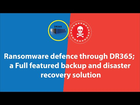 Ransomware defense through DR365 – a Full featured backup and disaster recovery solution