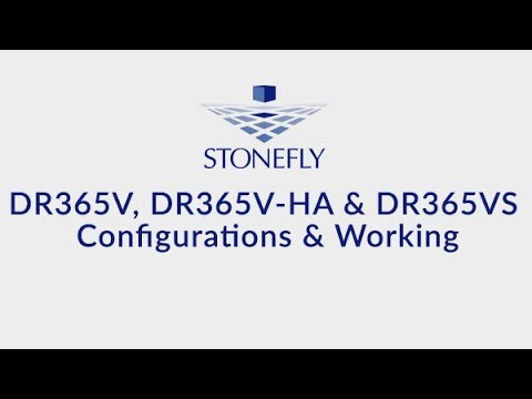 StoneFly DR365V, DR365VS and DR365V-HA Backup and Replication Appliances