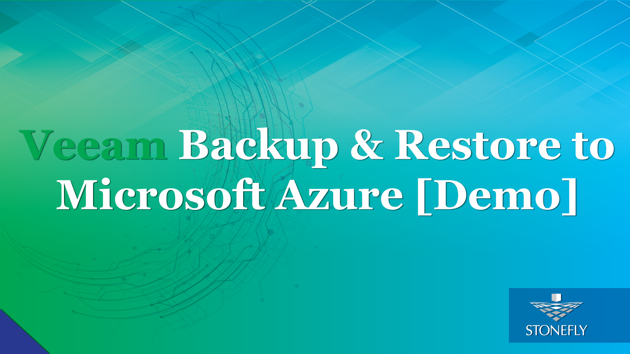 Veeam backup and restore to Microsoft Azure [Demo]