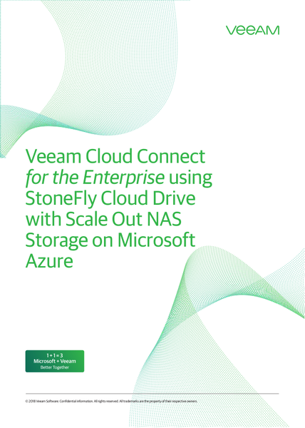 Veeam Cloud Connect for the Enterprise using StoneFly Cloud Drive with Scale Out NAS Storage on Microsoft Azure 1