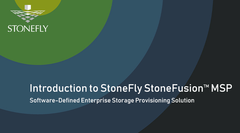 Introduction to StoneFly StoneFusion MSP
