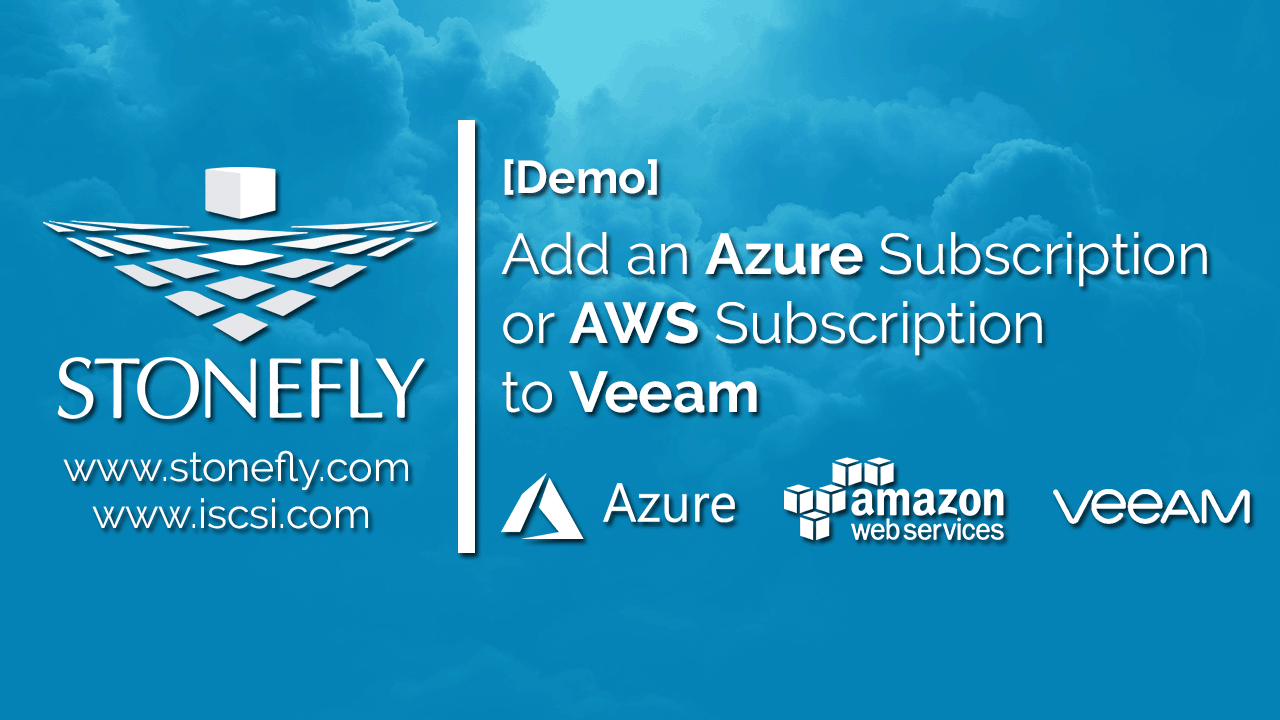 How to Add an Azure Subscription or AWS Subscription to Veeam