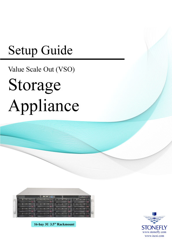 StoneFly Appliance and User Manuals 12