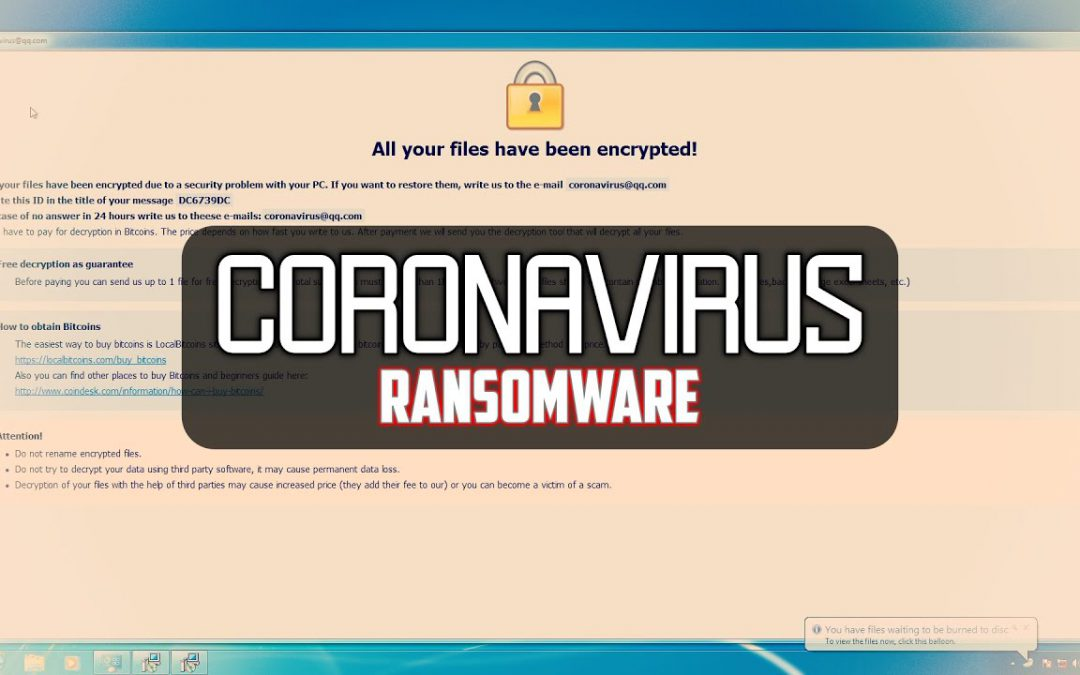 Coronavirus & Ransomware Infection – What's the Connection?