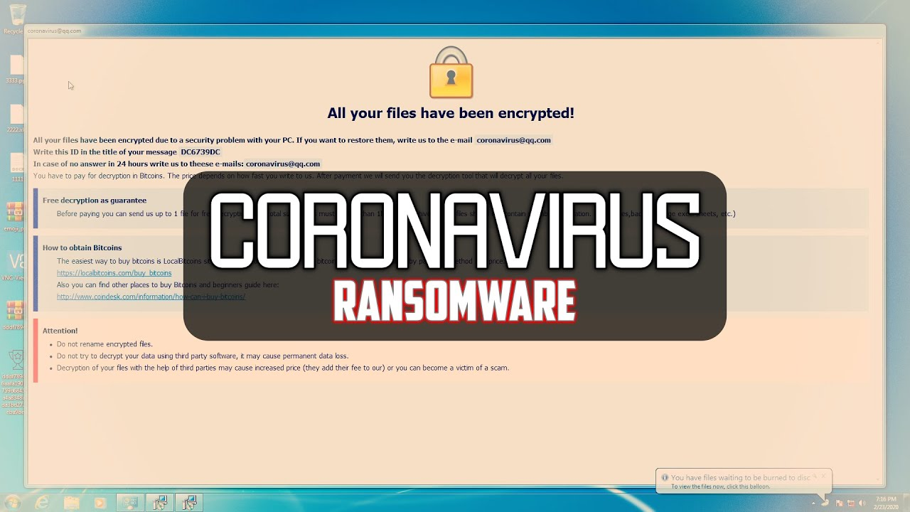 Coronavirus & Ransomware Infection – What's the Connection? 6