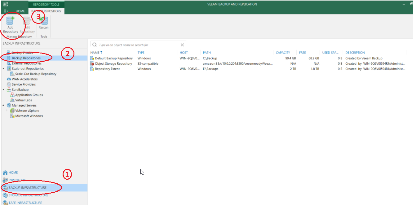How to setup NAS backup repository for Veeam backup software